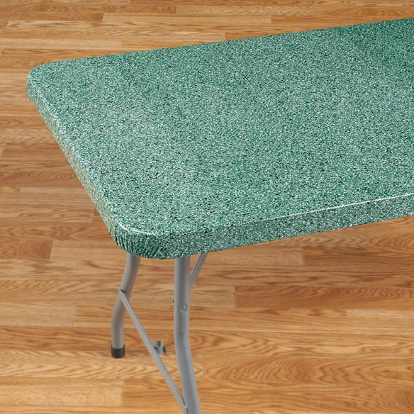 Granite Elasticized Banquet Table Cover - View 3