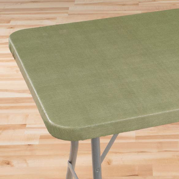 Classic Weave Elasticized Banquet Table Cover - View 2