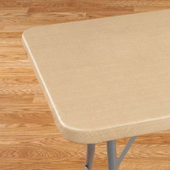 Classic Weave Elasticized Banquet Table Cover - View 4
