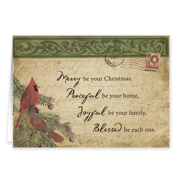 Cardinal Blessings Christmas Card Set Of 20 - View 2
