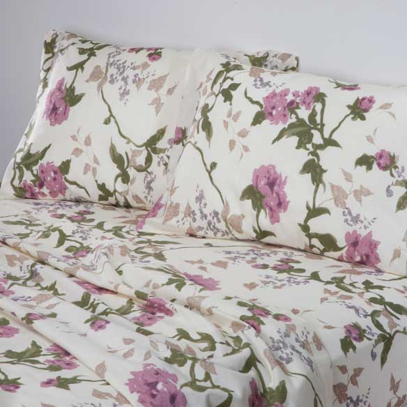 Flannel Sheet Sets Snowflake Flannel Sheets Walter Drake