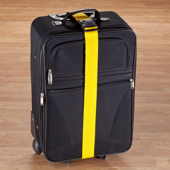 Personalized Yellow Luggage Strap - View 3