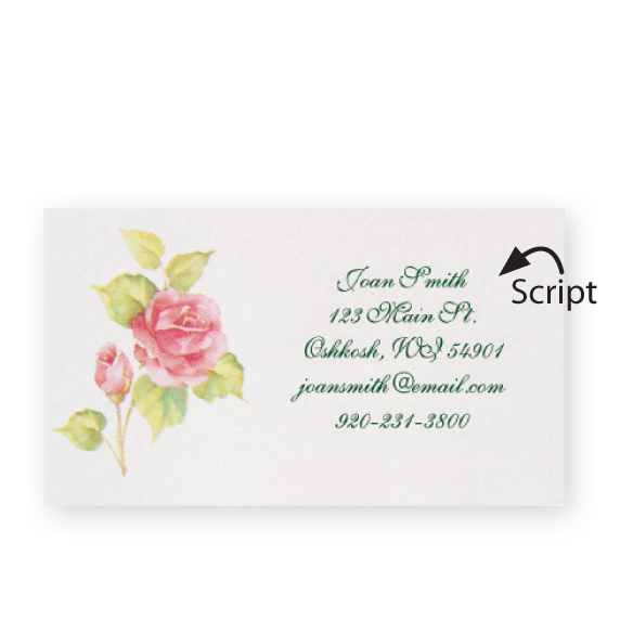 Personalized Rose Business Cards - Set of 200 - View 3