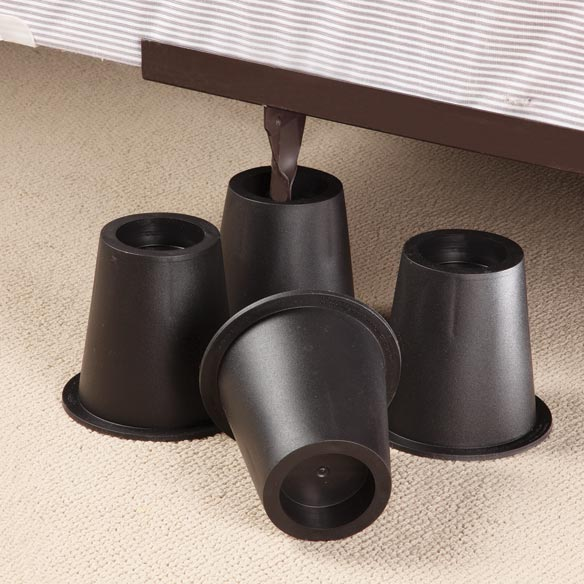 Black Bed Risers - Set of 4 - View 2