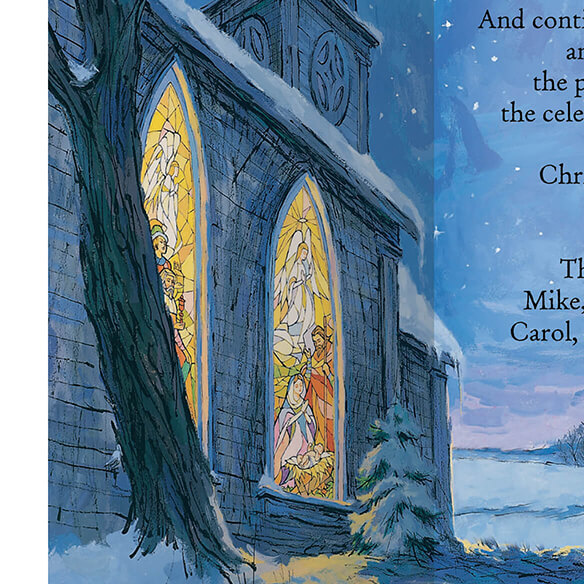The Star Still Shines Christian Christmas Card Set of 20 - View 4