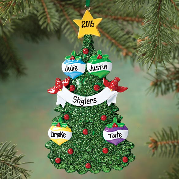 Personalized Christmas Tree Ornament - View 2