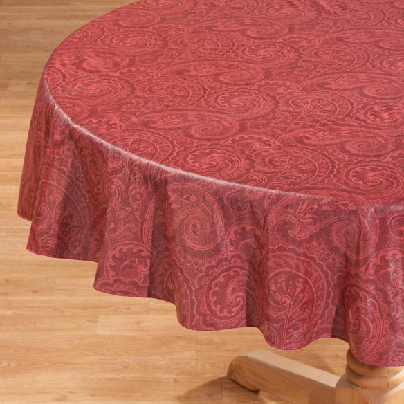 paisley vinyl table cover table top entertaining