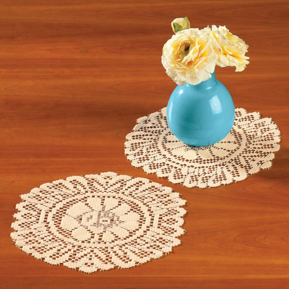 "Lace Doily 10"" Round Set of 3 - View 2"