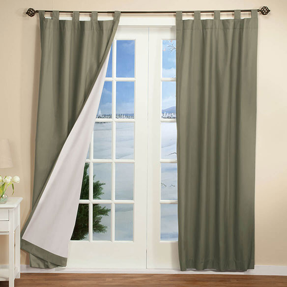 Energy Saving Tab Top Curtain Panels - Set of 2 - View 3
