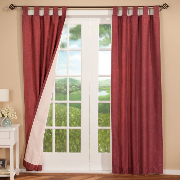 Energy Saving Tab Top Curtain Panels - Set of 2 - View 5