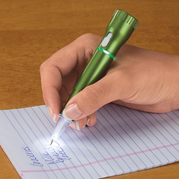 LED Flashlight Pen With Lanyard - View 2