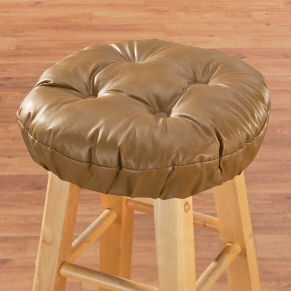 Faux Leather Bar Stool Cushion - View 2
