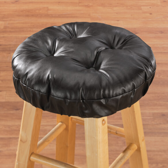 Faux Leather Bar Stool Cushion - View 3