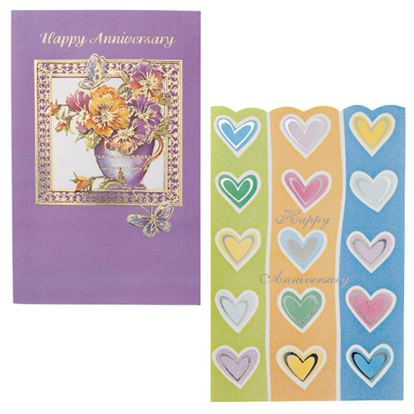 Anniversary Cards Assortment - Pack Of 24 - View 2