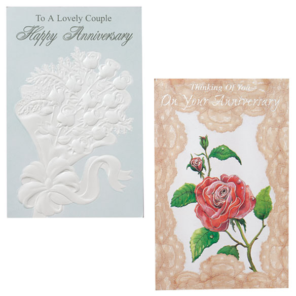 Anniversary Cards Assortment - Pack Of 24 - View 4
