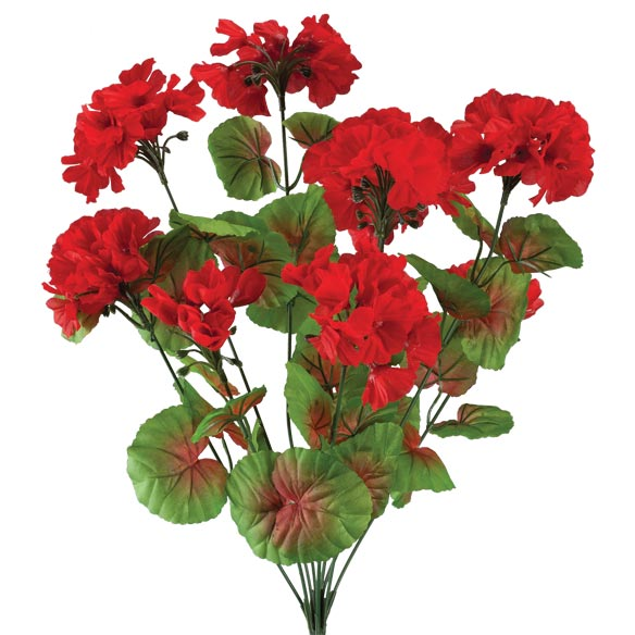 All-Weather Red Geranium Bush by OakRidge™ Outdoor - View 2