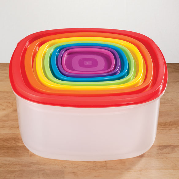 Multi-Colored Storage Containers - Set of 7 - View 2