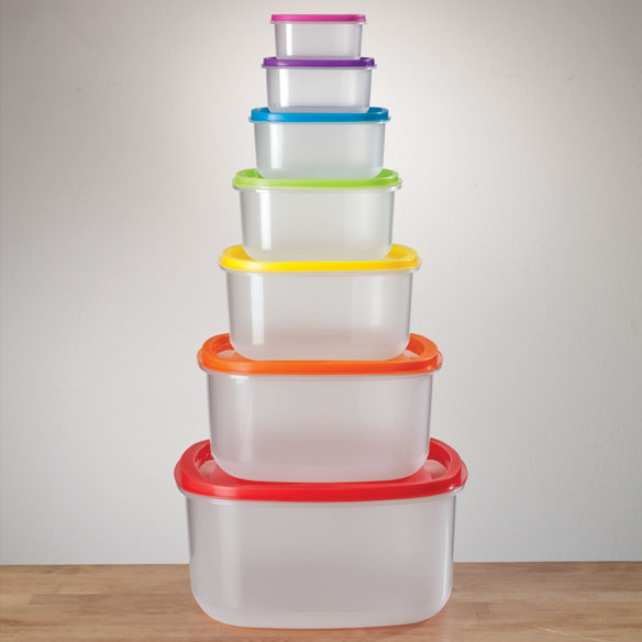 Multi-Colored Storage Containers - Set of 7 - View 3