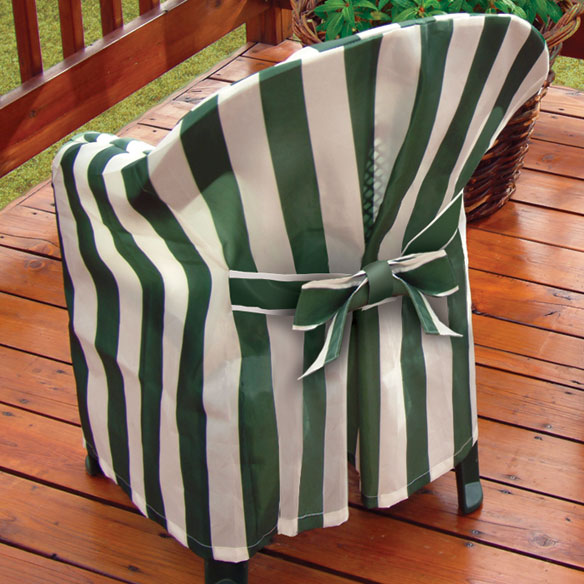 Striped Patio Chair Cover with Cushion - View 2