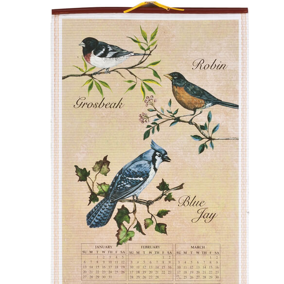 Songbirds Scroll Calendar - View 4