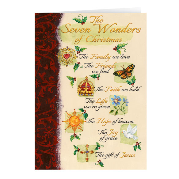 The Seven Wonders of Christmas Card Set of 20 - View 2