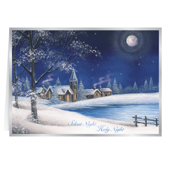 Silent Night Christmas Card Set of 20 - View 2