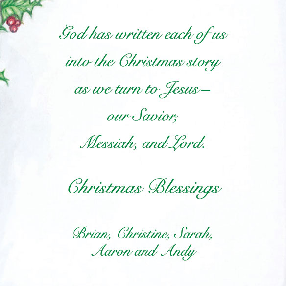 Your Family Bible Christmas Card Set of 20 - View 4