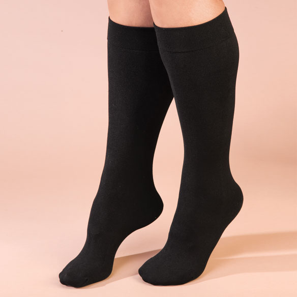 Fleece Lined Knee Highs - 2 Pairs - View 3