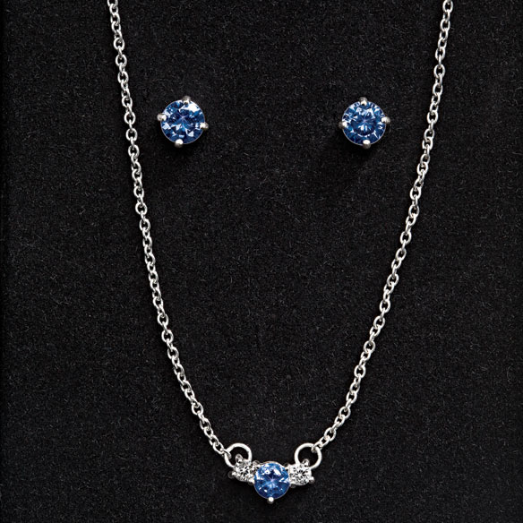 Claremont Sterling Necklace & Earring Set - View 2