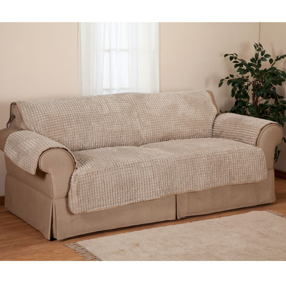 Chenille Loveseat Furniture Protector - View 3