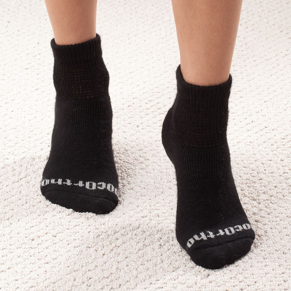 Quarter Cut DocOrtho™ Diabetic Socks - 3 Pack - View 3