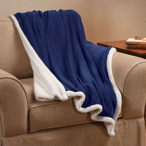Ultra Plush Microfiber Sherpa Throw by OakRidge™ Comforts - View 3