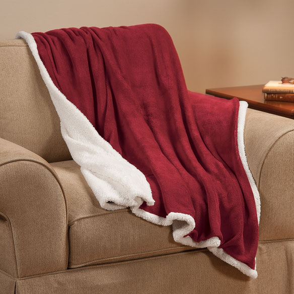 Ultra Plush Microfiber Sherpa Throw by OakRidge™ Comforts - View 4