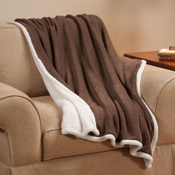 Ultra Plush Microfiber Sherpa Throw by OakRidge™ Comforts - View 5