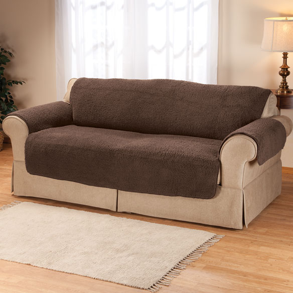 Sherpa Sofa Protector by OakRidge™ Comforts - View 3