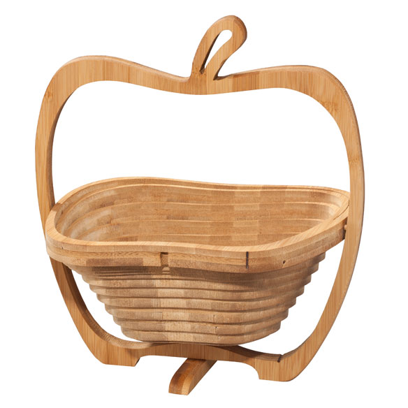 2-in-1 Bamboo Basket & Trivet - View 3