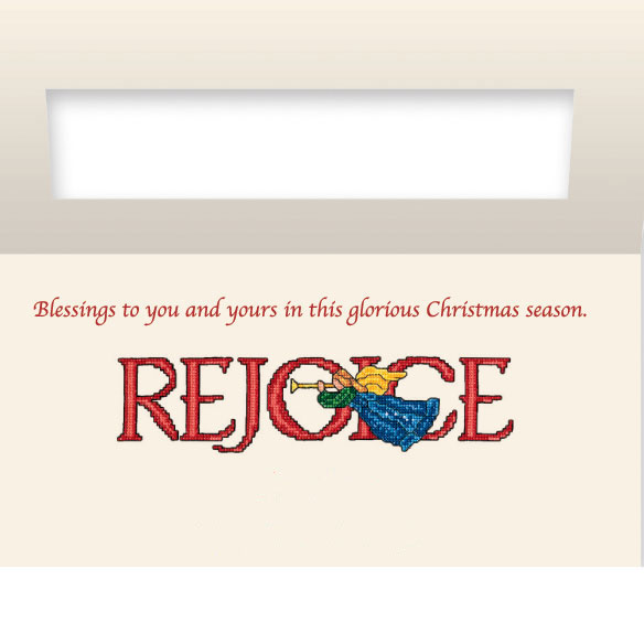 Rejoice Christian Non Personalized Christmas Card Set of 20 - View 3