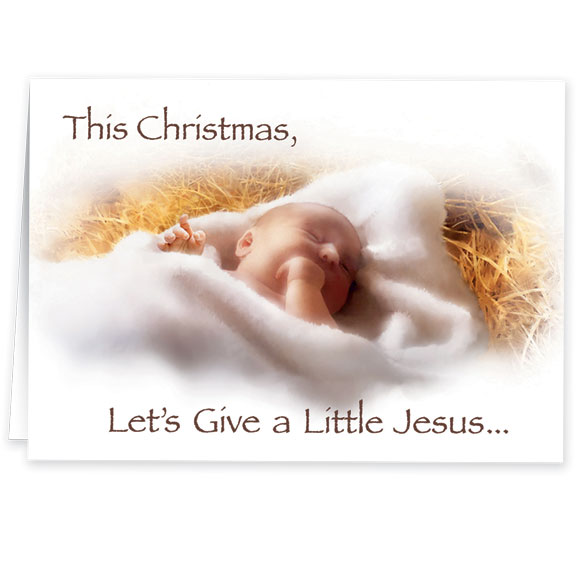 Give a Little Jeasus Non Personalized Christmas Card Set of 20 - View 2