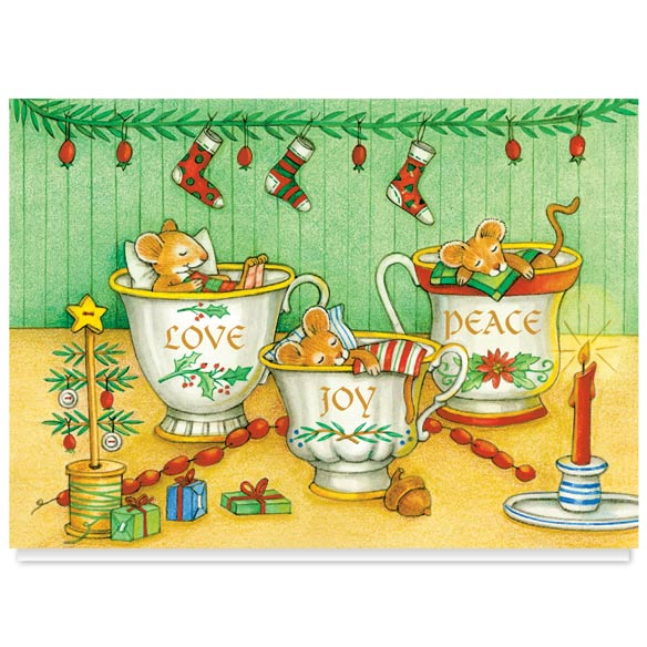 Christmas Mice Non Personalized Christmas Card Set of 20 - View 2
