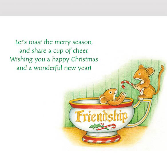 Christmas Mice Non Personalized Christmas Card Set of 20 - View 3