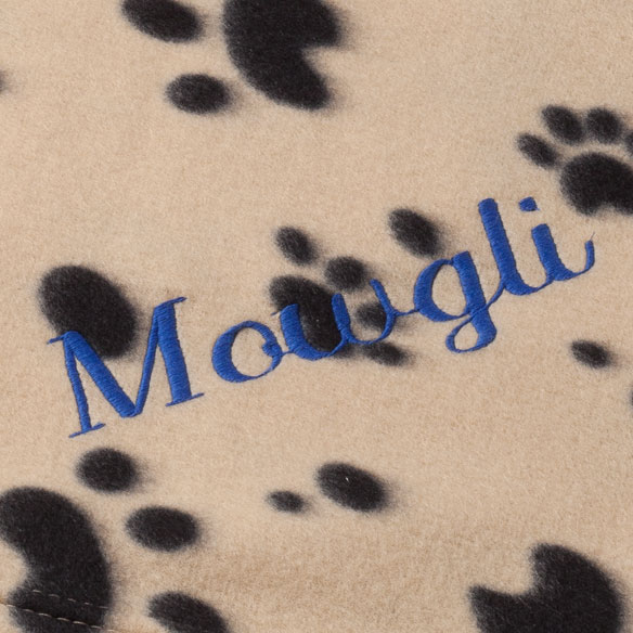Personalized Paw Print Pet Blanket - View 5