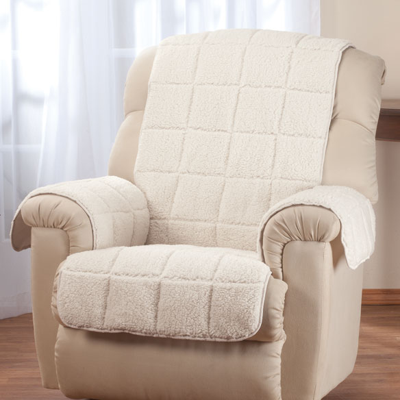 Waterproof Quilted Sherpa Recliner Protector by OakRidge™ Comforts - View 2