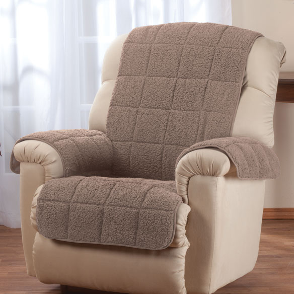 Waterproof Quilted Sherpa Recliner Protector by OakRidge™ Comforts - View 4