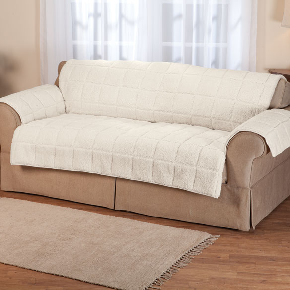 Waterproof Quilted Sherpa Loveseat Protector by Oakridge Comforts™ - View 2