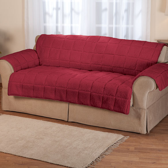 Waterproof Quilted Sherpa Loveseat Protector by Oakridge Comforts™ - View 3