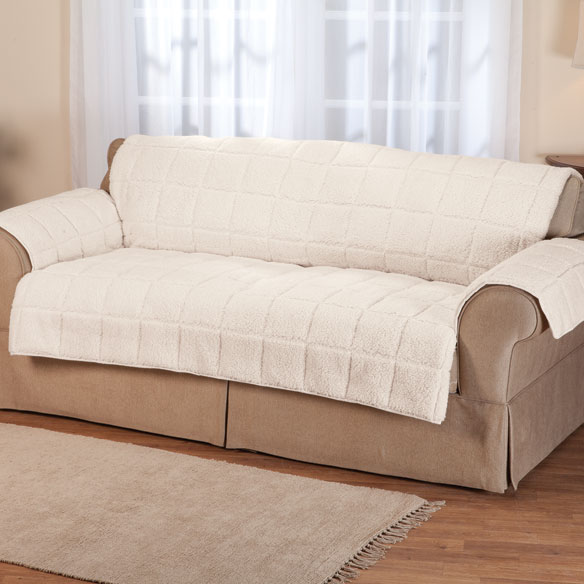Waterproof Quilted Sherpa Sofa Protector by OakRidge™ Comforts - View 2