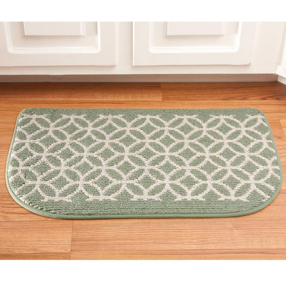 "Memory Foam Wedding Ring Rug Slice 18"" x 30"" - View 3"