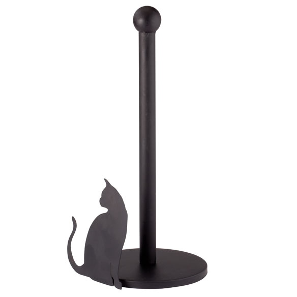 Cat Silhouette Paper Towel Holder - View 2