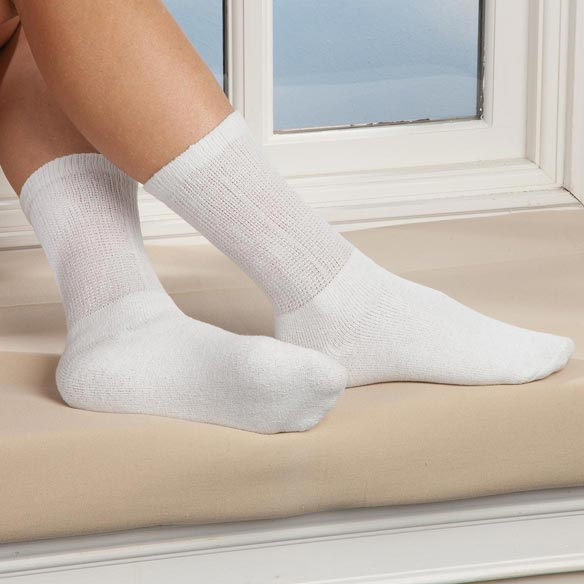 Healthy Steps™ 3 Pack Diabetic Socks - View 4