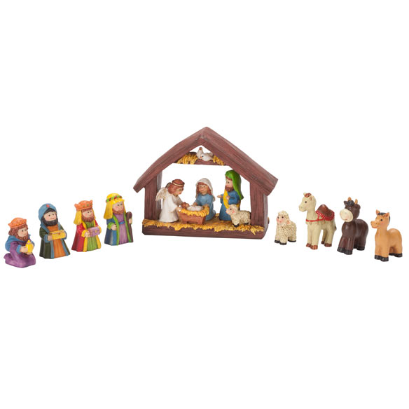 Resin Tabletop Nativity Set - View 2